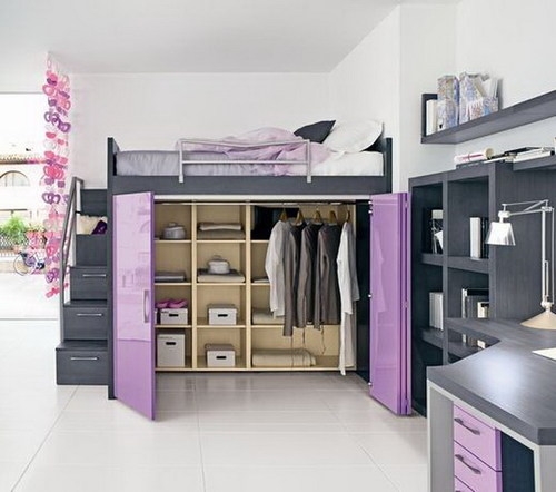 Girls loft bed girls bedroom furniture home interior ideas home ...