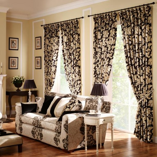Emejing Latest Curtain Designs For Home Images   3D House Designs .