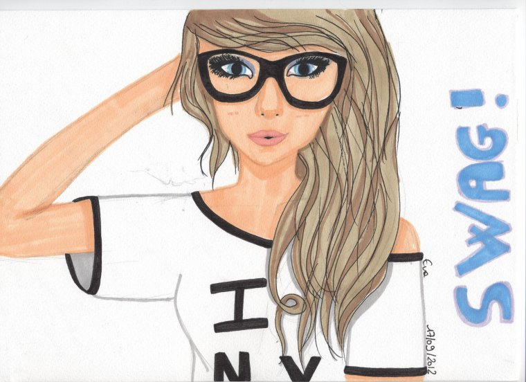 Blondasse swagy we heart it dessin and swag - Dessin swag fille ...