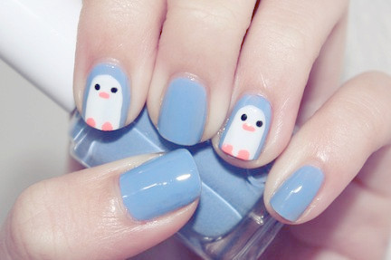 Dh,cute,light,blue,nails,penguin,art-cd4fdbb40287d9b983347e9505d1616a_h_large