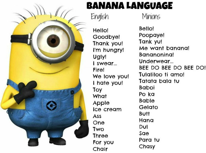 I Love You In Minion Language Group of The Language of