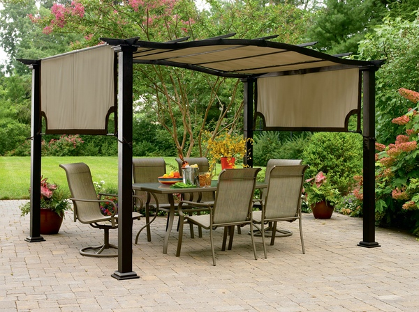 Garden pergola a comfortable seating for family pergola for Gazebo pieghevole leroy merlin