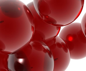 red clear balls