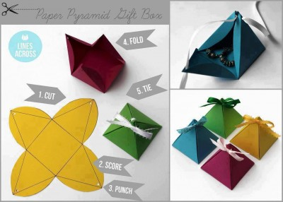 How to make beautiful paper pyramid gift box step by step - How to make beautiful gift box ...
