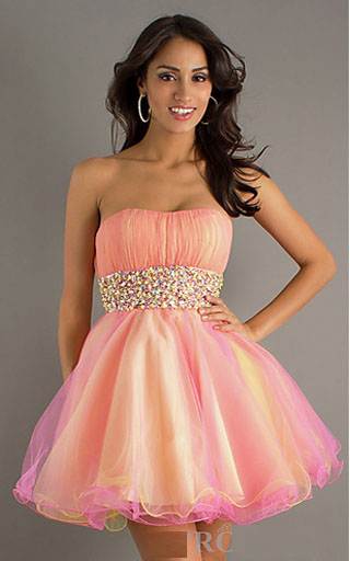 Cheap Tulle Strapless Hannah S 27688 Short Prom Dress 2013 [Hannah ...