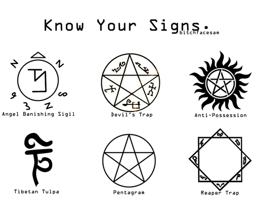 know your signs    by dean sammy cas