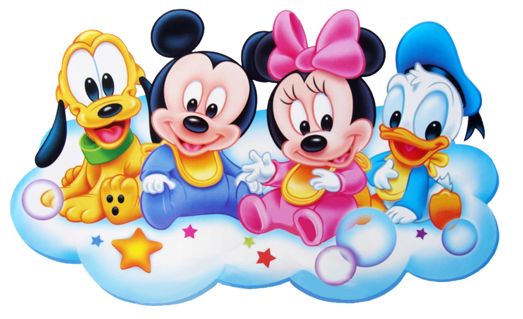 Disney baby follow me we heart it disney mickey and pluto - Photo minnie et mickey bebe ...
