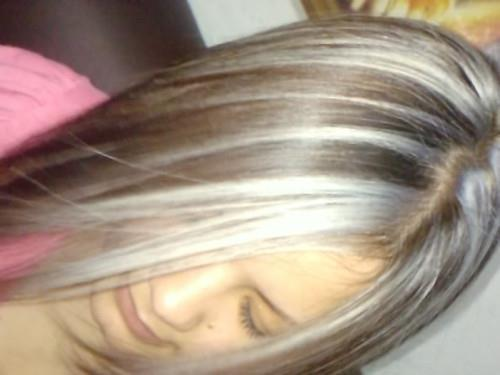 Mechas platinadas we heart it mechas platinadas - Bano de color en mechas ...