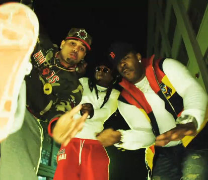 Chris Brown  on Chris Brown Look At Me Now Music Video Feat Lil Wayne And Busta Rhymes