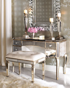 Delightful Miscellaneous   Horchow Mirrored Vanity Set Bathroom Bedroom Mirror Bench  Rug Horchow Mirrored Vanity And Vanity Set..the Mirror Is Gorgeous