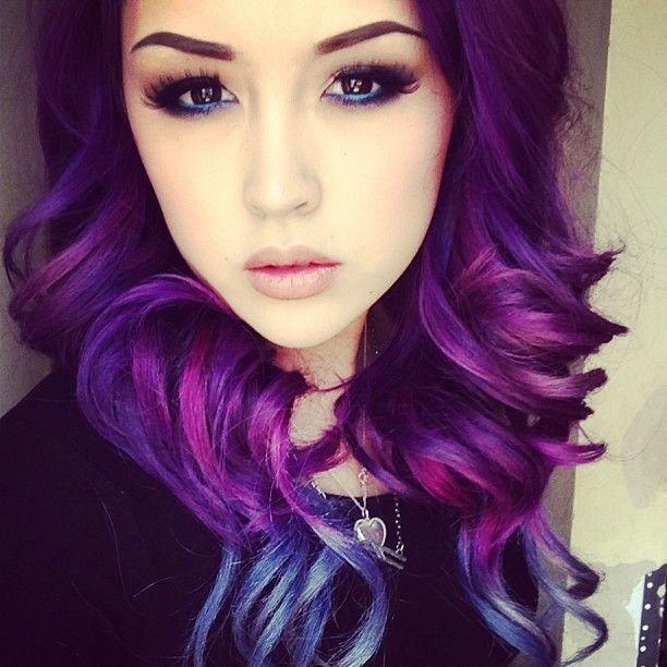 Dark magenta hair dye