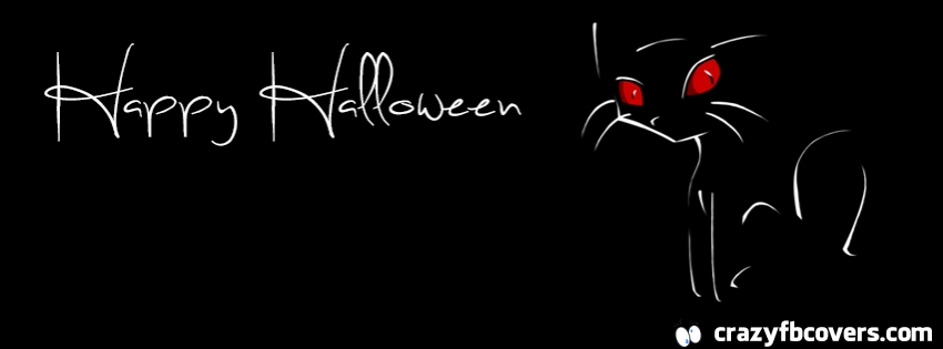 Black Cat Happy Halloween Facebook Cover | We Heart It ...