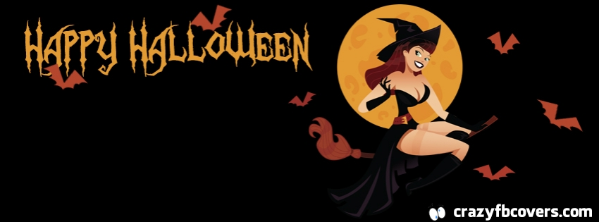 Sexy Witch Happy Halloween Facebook Cover | We Heart It ...