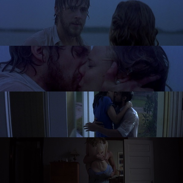 the notebook we heart it couple kiss and ryan gosling. Black Bedroom Furniture Sets. Home Design Ideas