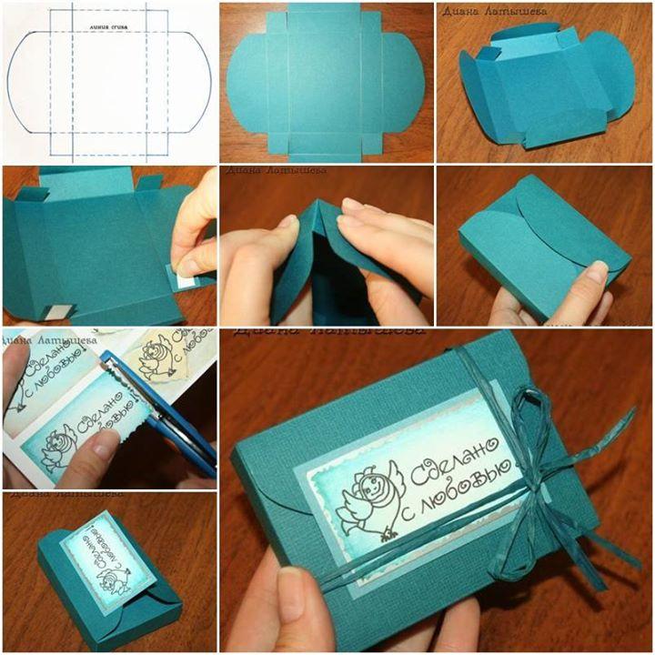 Как сделать красивую коробку в подарок своими руками