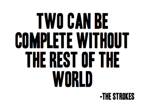 two can be complete without the rest of the world