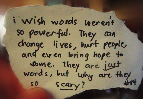 can words hurt people Lesson: words can hurt  point out that some people will automatically put up barriers to a new student, deciding quickly -- without even trying to get to know him.
