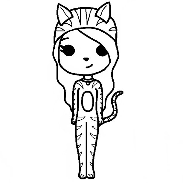 cute people coloring pages - photo#41