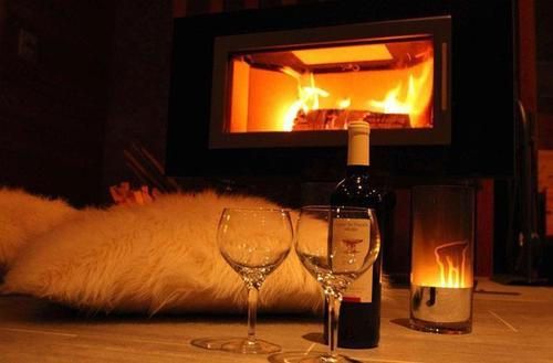 romantic winter evening by the fireplace on we heart it