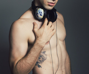 naked dj tattoo boy