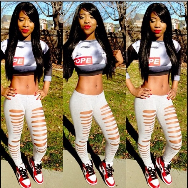 Black Dope Fashion Girl: Dope Thugette Customer ( @sweet_anite ) In Our Marilyn