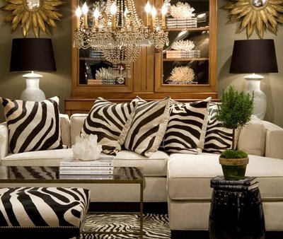 Living rooms taupe gray black cream ivory sectional sofa zebra rug ...