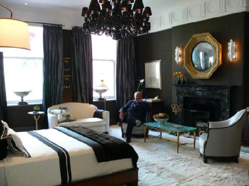 bedrooms dramatic black bedroom drama glam black chandelier black