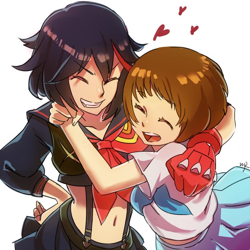 Acedite em quem vc diz amar   We Heart It   anime, girl ... Ryuko X Mako Kiss