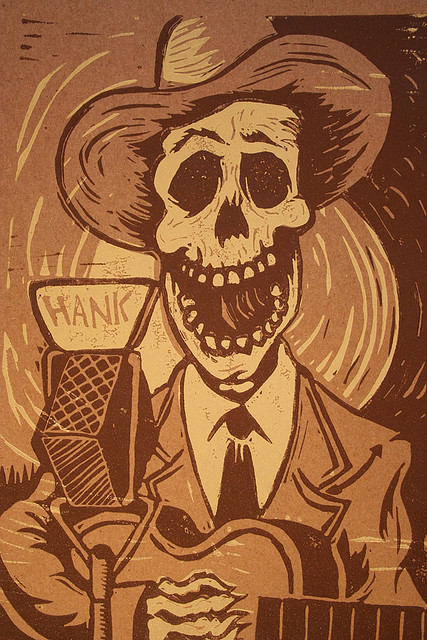 Hank Williams Linocut | Flickr – Compartilhamento de fotos!