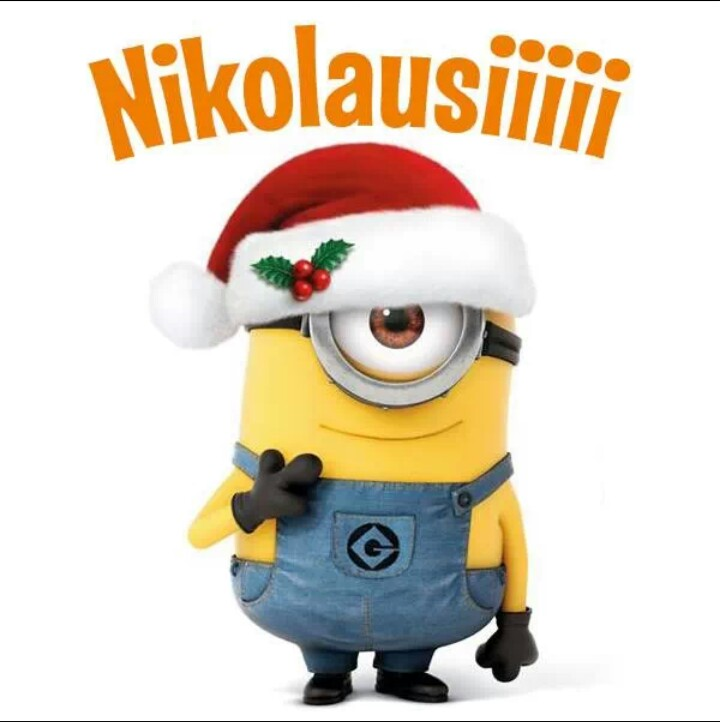 weihnachten mit nikolausiii we heart it minions. Black Bedroom Furniture Sets. Home Design Ideas