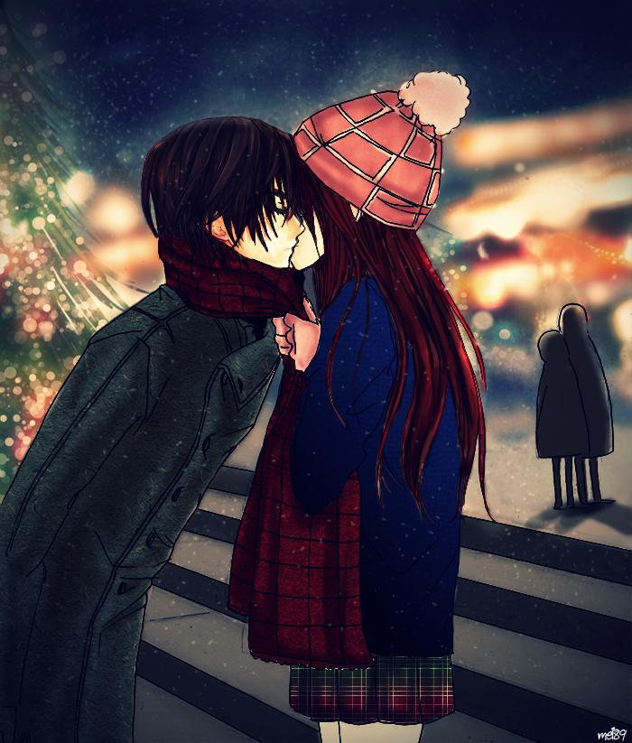 Christmas Kiss Anime By WorstNightmare