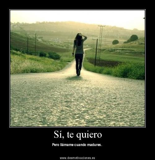 Sí, te quiero - www.desmotivaciones.es on we heart it / visual ...