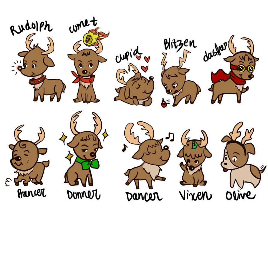 reindeer shared by matea on we heart it