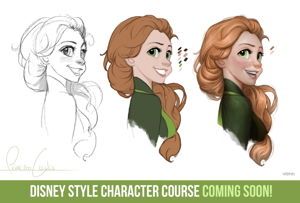Artist Creates Adorable Anime-Style Disney Princesses And ...