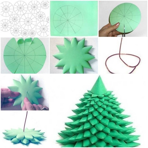 3d Christmas Tree Pattern: How To Make 3D Christmas Tree Step By Step DIY Tutorial