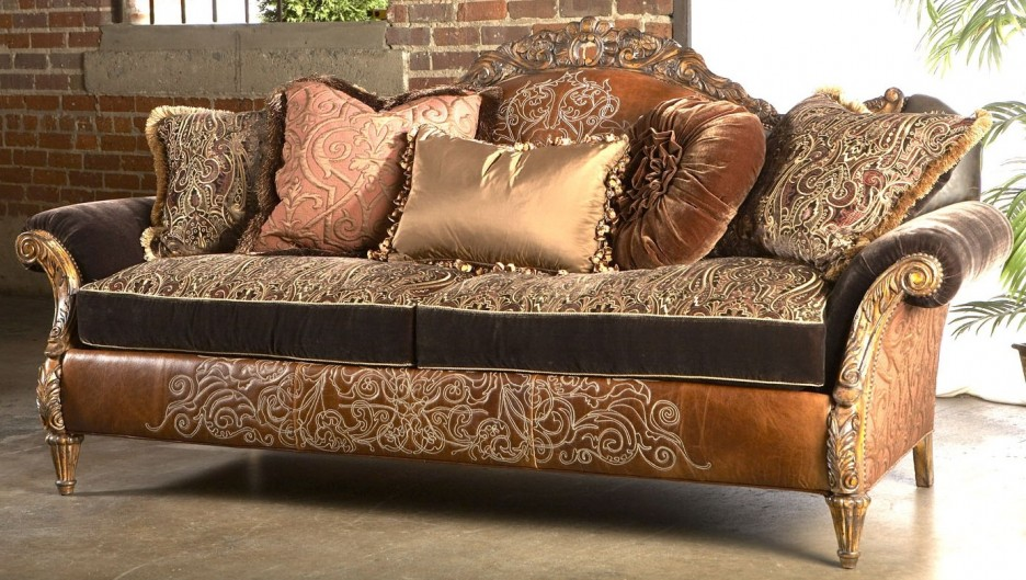 Classic couch design of luxury sofas design with beautiful for Designer throws for sofas