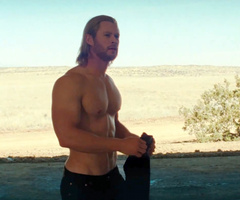 Maybe it's just me...: VIDEO: Chris Hemsworth got too beefy up for 'Thor'