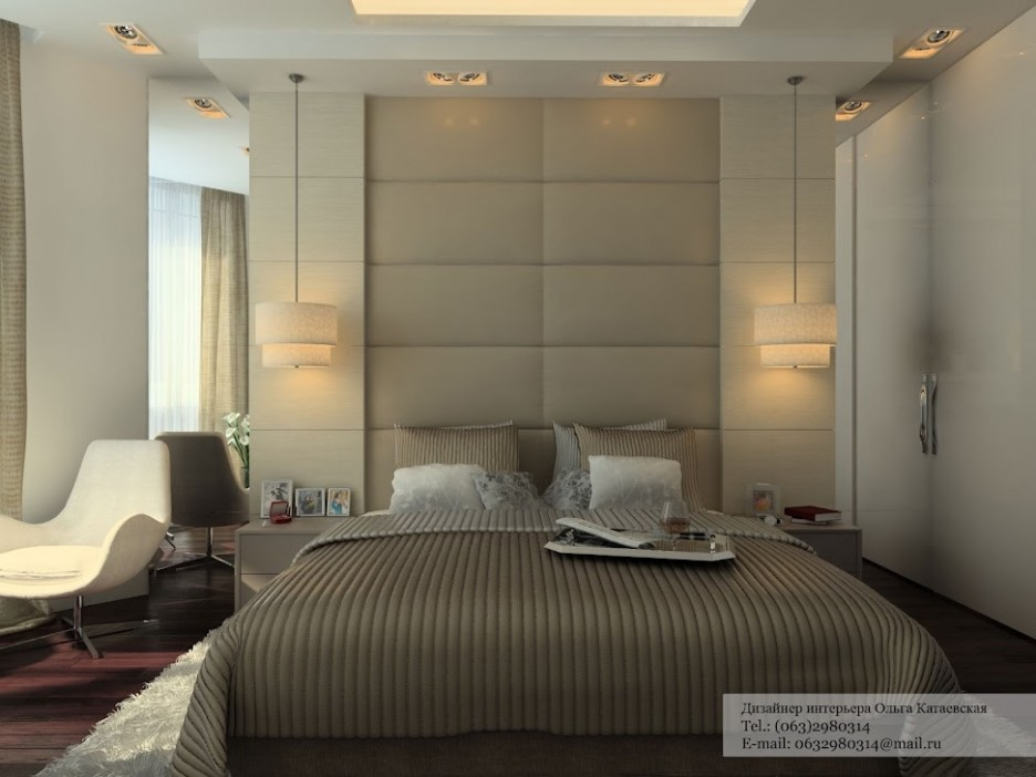 Padded Wall Panels stunning modern minimalist neutral bedroom ideas elegant night