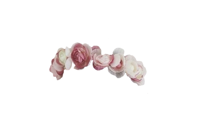 Transparent White Flower Crown