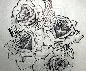 tattoo music notes rose