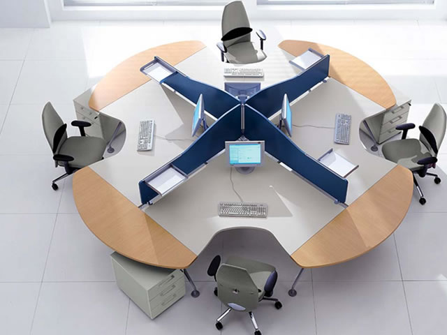 beautiful computer office furniture with modern round