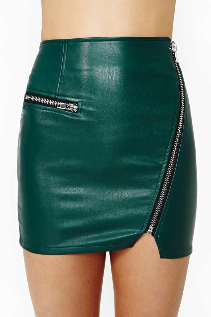 Motorcycle Drive Faux Leather Skirt in Clothes Bottoms at Nasty Gal