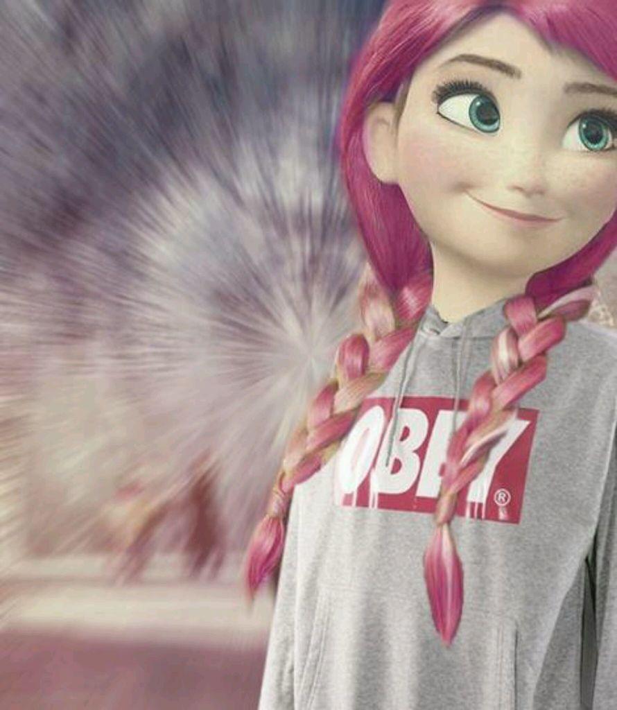 foto de Princess anna ; Frozen ; Pink hair ♥ We Heart It obey