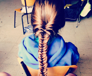 fishtail hair brown