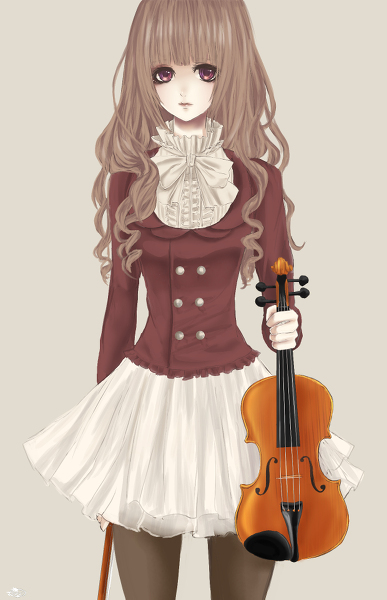 Anime Girl We Heart It Anime Violin And Girl