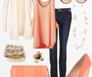 coral girl fashion outfit