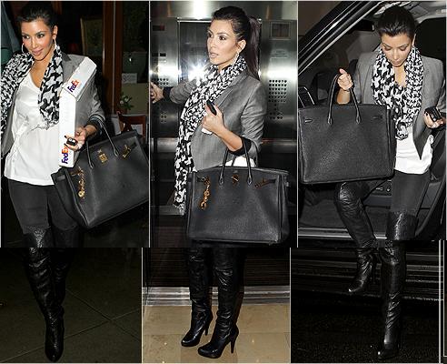 hermes knockoff - birkin bag   We Heart It   kim kardashian and birkin bag