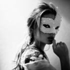 The woman with the mask