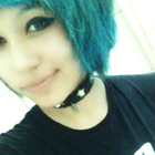 blue haired bitch