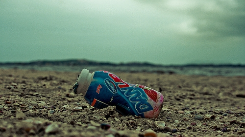 beach, boring, and bottle image